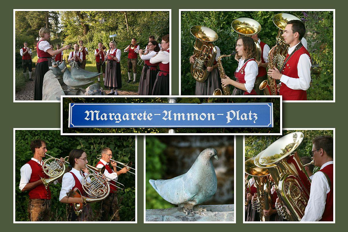 Musikvereinigung Thannhausen auf dem Margarete-Ammon-Platz